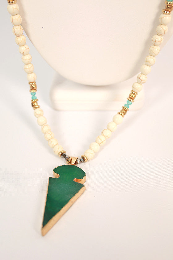 Natural Beauty Necklace in Green