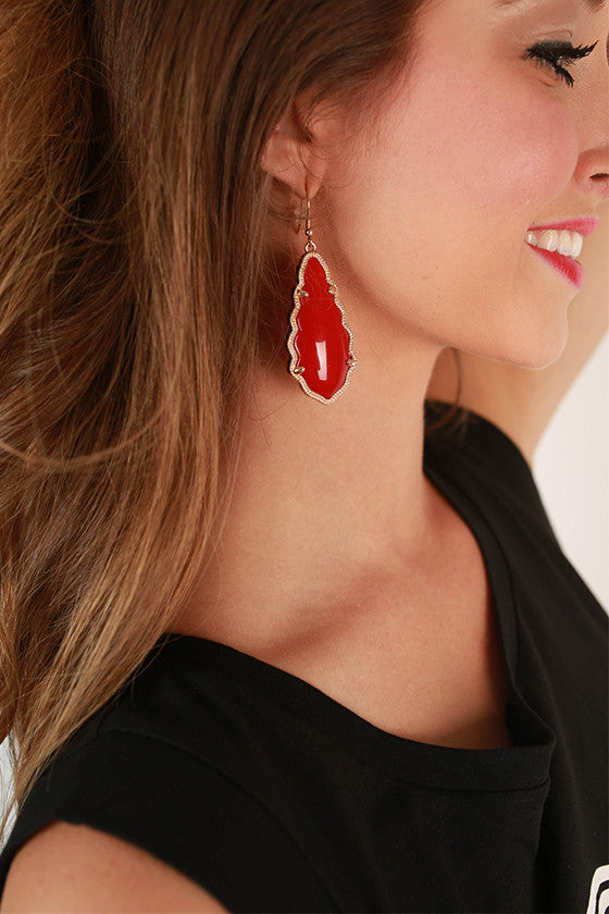 Queen For A Day Earrings in Red