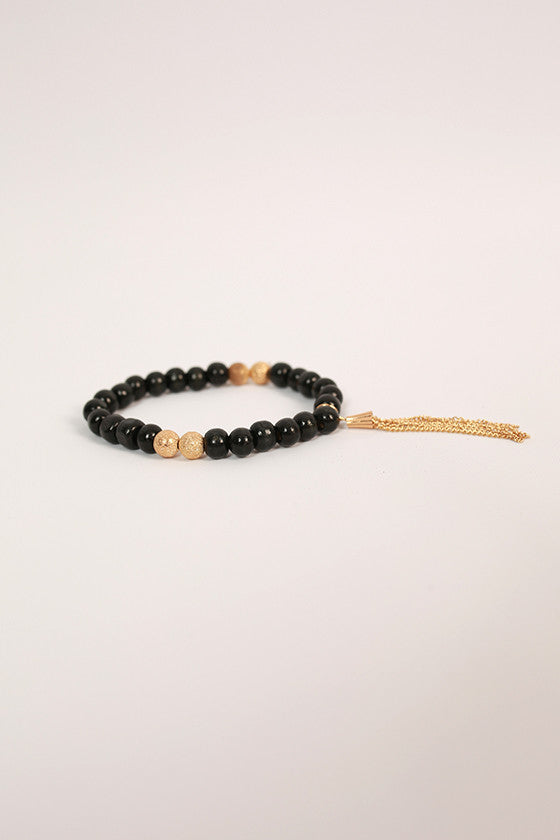 Sweet In Soho Stacking Bracelet in Black