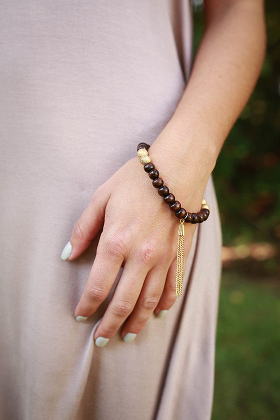 Sweet in Soho Stacking Bracelet in Chestnut