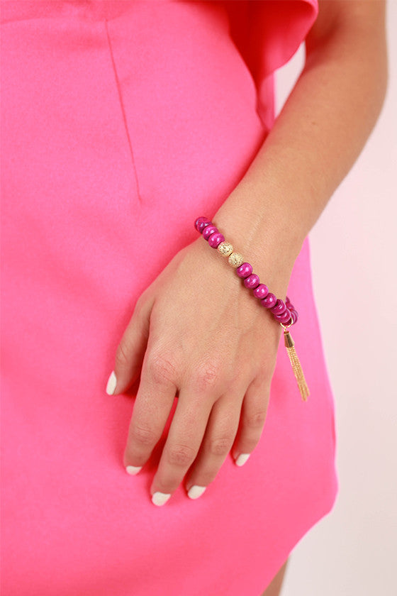 Sweet in Soho Stacking Bracelet in Purple