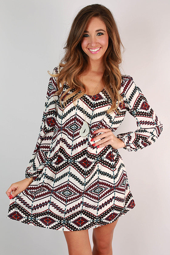 Love & Lattes Shift Dress in White