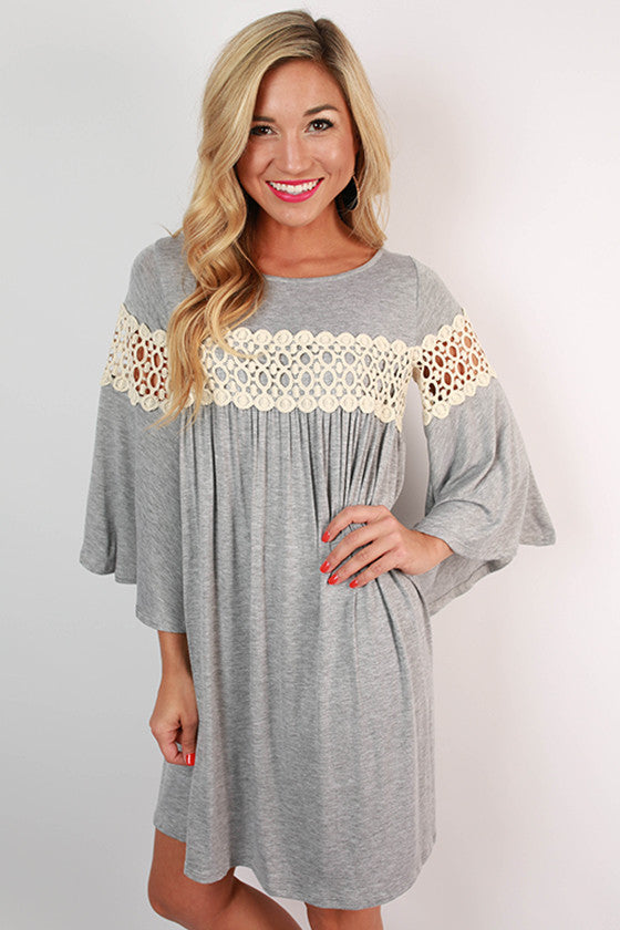 Swing Dance Shift Dress in Grey