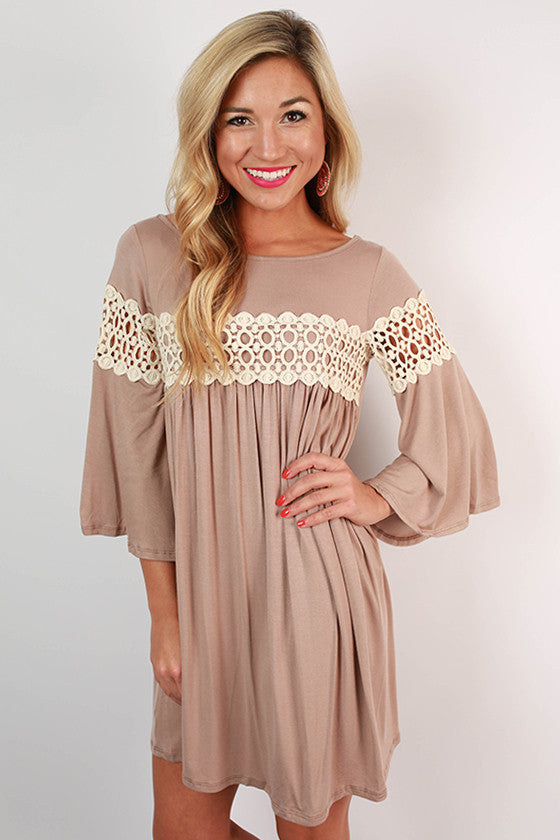 Swing Dance Shift Dress in Oatmeal