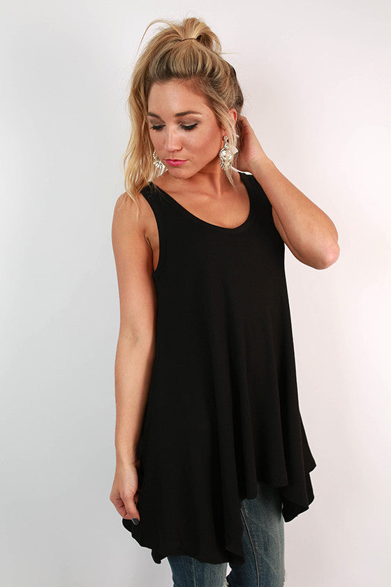 The Elle Swing Tank in Black