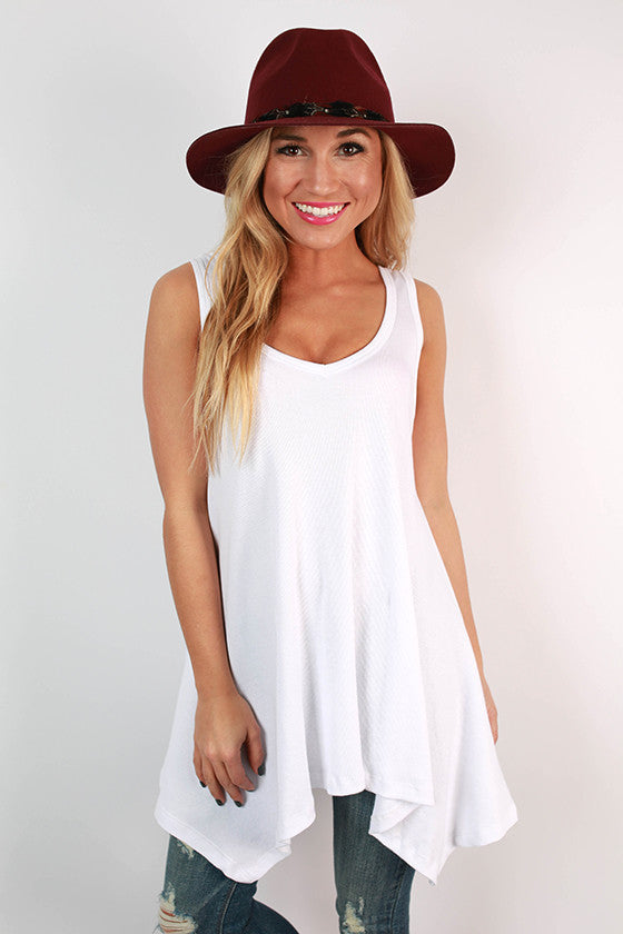 The Elle Swing Tank in White
