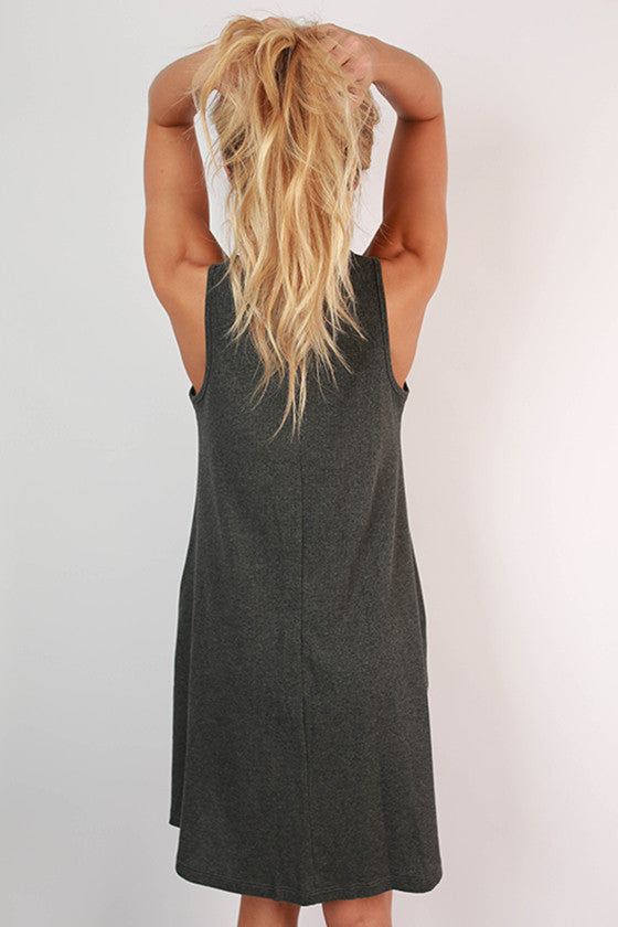 The Lola Tank Dress in Charcoal