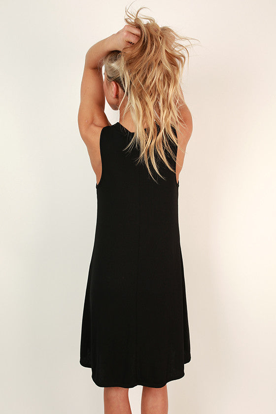 The Lola Tank Dress in Black