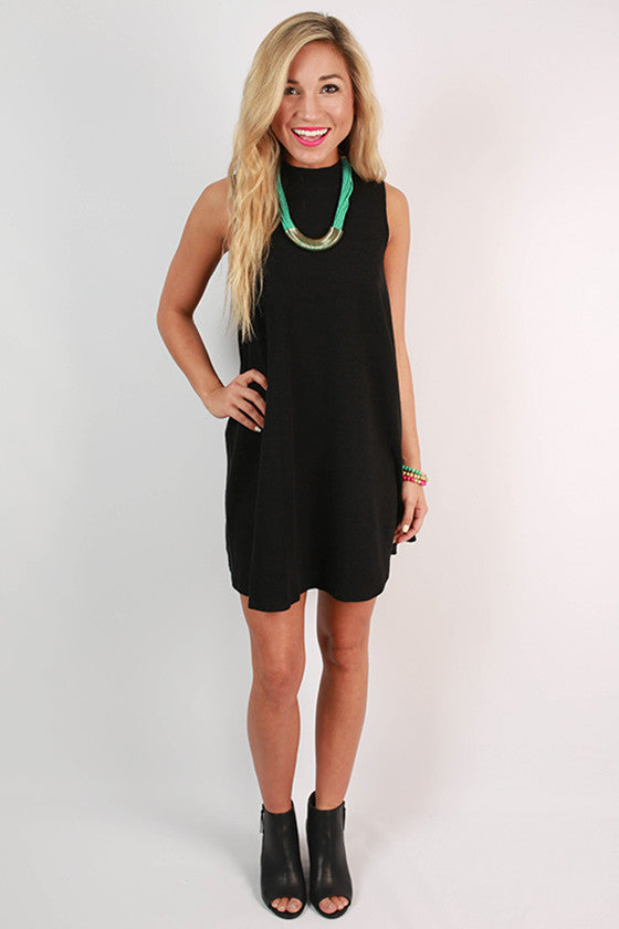 Give Me A Twirl Flare Dress in Black