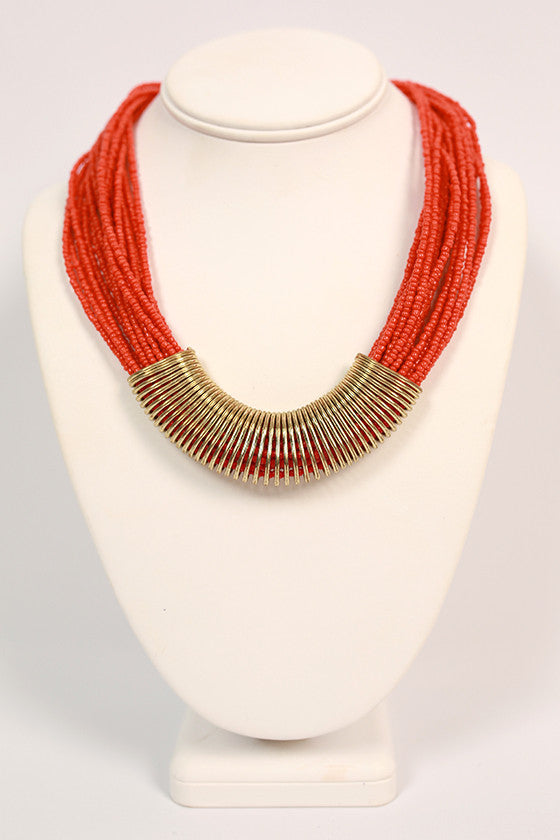 Lola Layered Necklace in Tomato