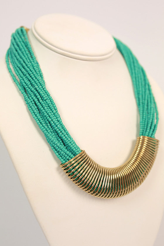 Lola Layered Necklace in Turquoise