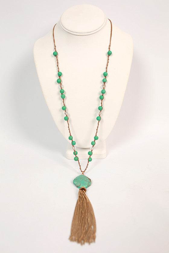 Boho Beauty Tassel Necklace