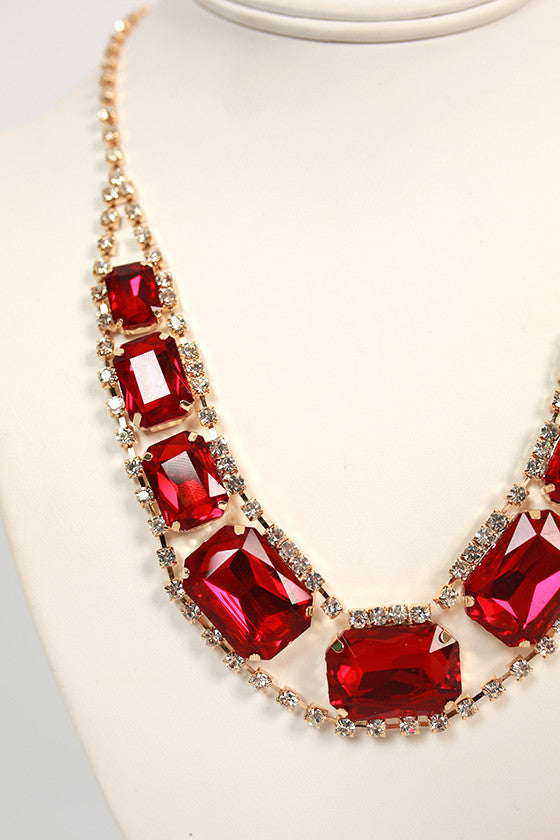 Southern Divine Necklace in Ruby