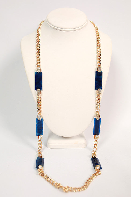 Social Gathering Necklace in Royal Blue