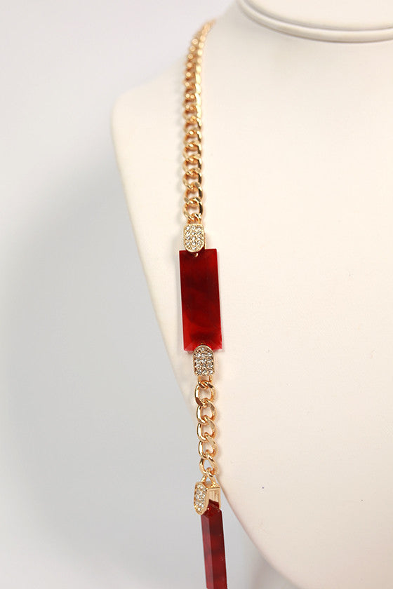 Social Gathering Necklace in Crimson