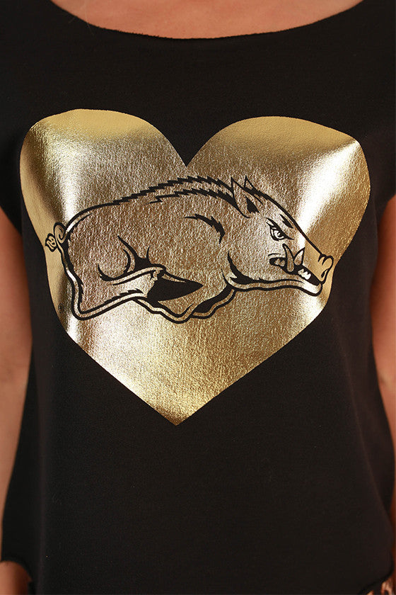 Hog in Heart Terry Top