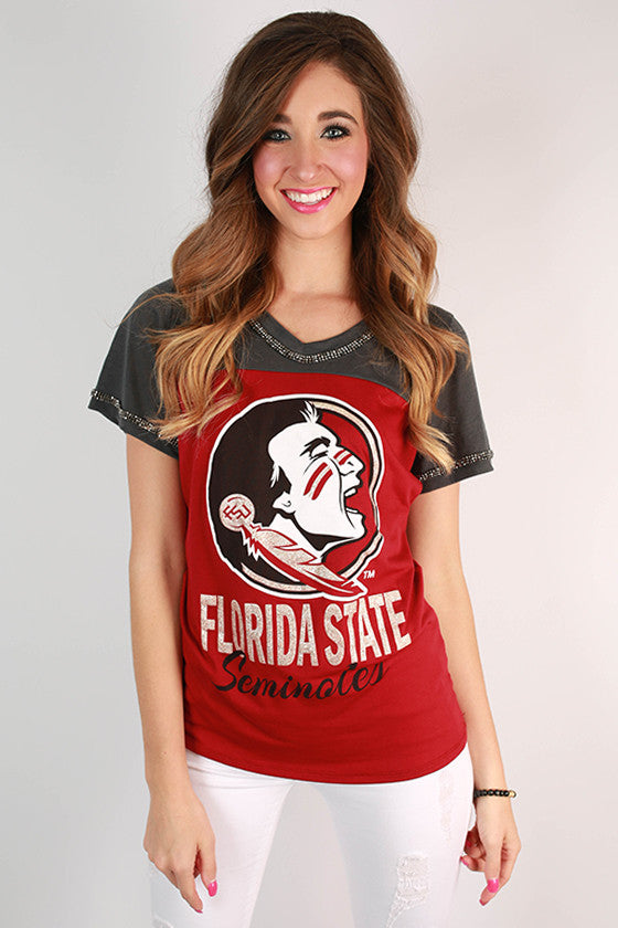 Florida State University Football Burnout Tee