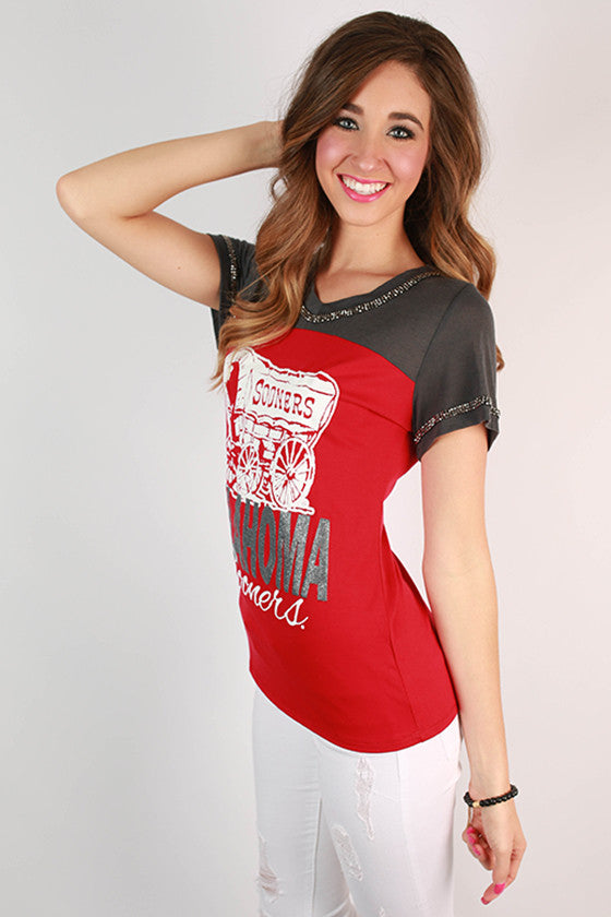 University of Oklahoma Football Burnout Tee