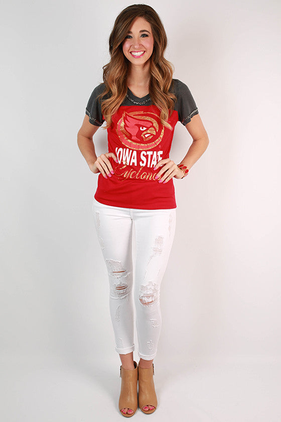 Iowa State University Football Burnout Tee