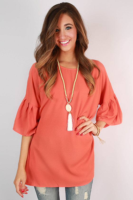 Feeling Lucky Bell Sleeve Top