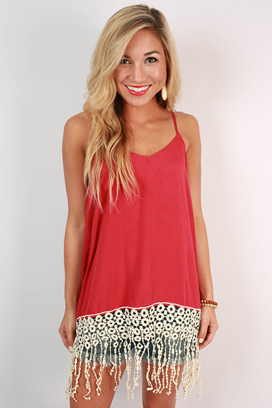 Fringe For Miles Tank in Cardinal