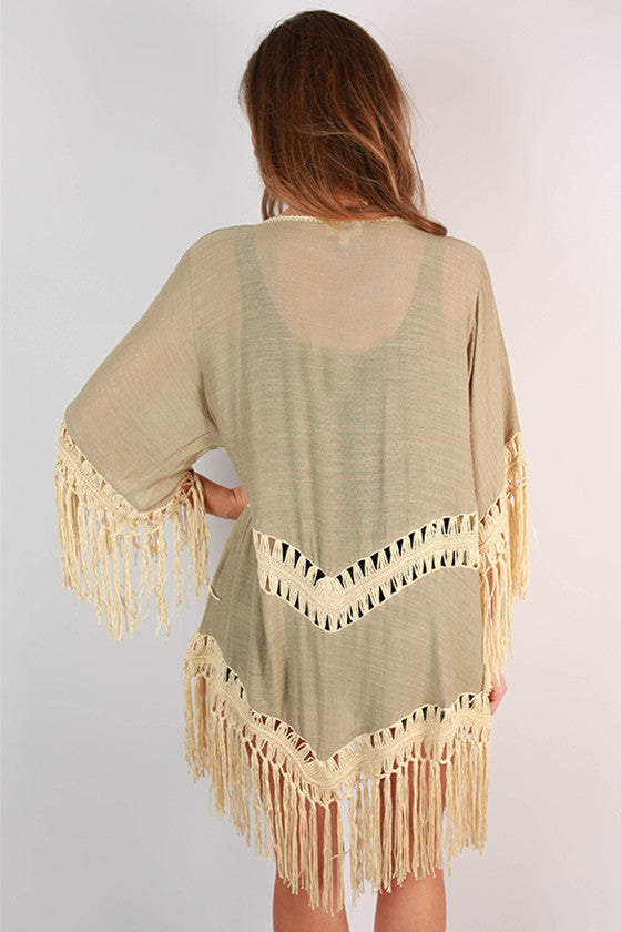 Fringe Queen Overlay in Sage