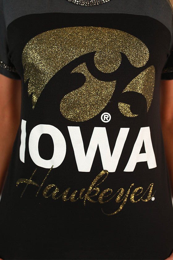 University of Iowa Football Burnout Tee