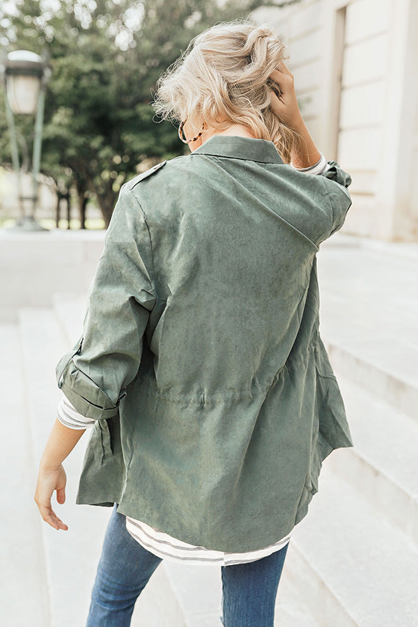Soho Skies Lightweight Jacket in Olive