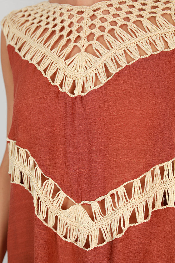 Hold Me Tight Fringe Tunic Tank