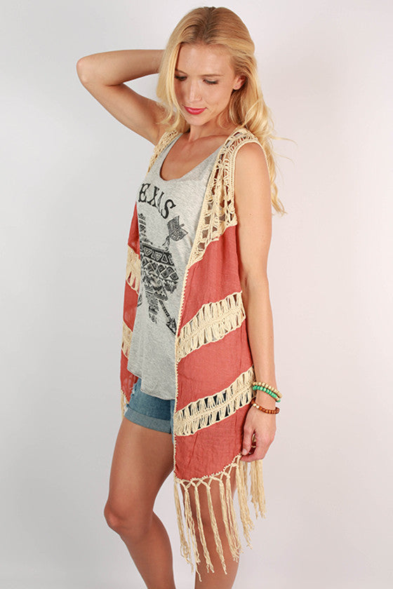 Fringe With Benefits Vest