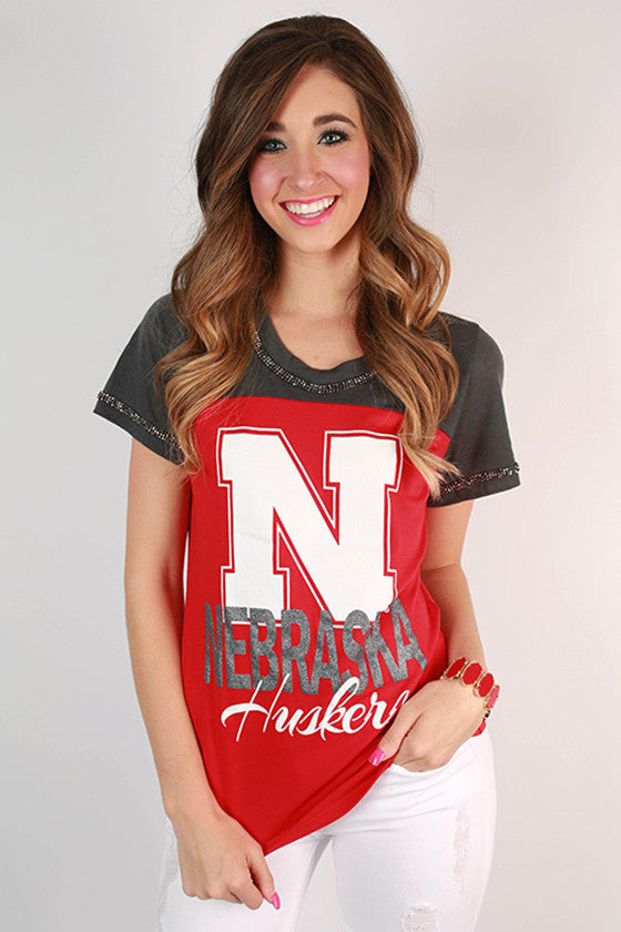 University of Nebraska Football Burnout Tee