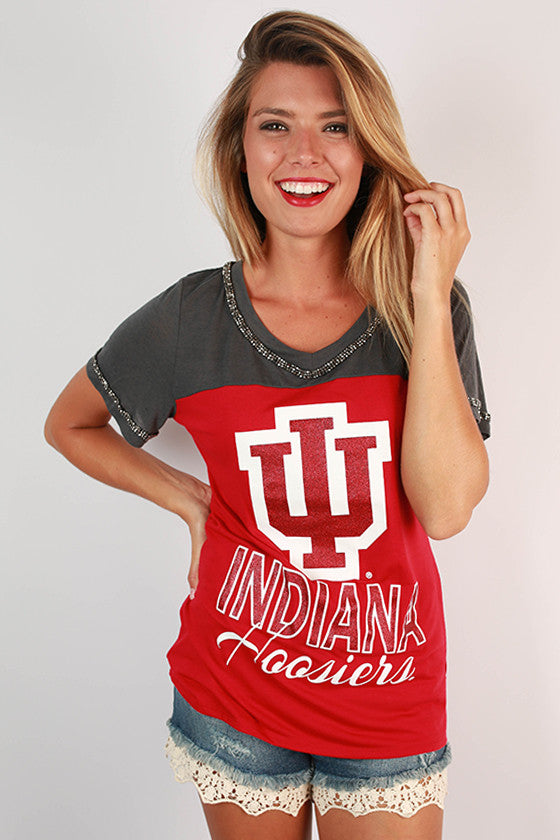 Indiana University Football Burnout Tee