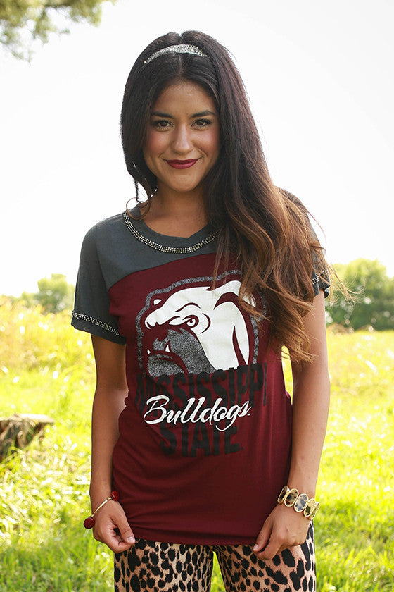 Mississippi State University Football Burnout Tee