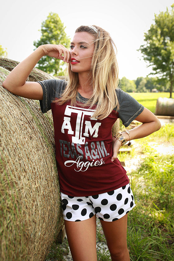 Texas A & M University Football Burnout Tee