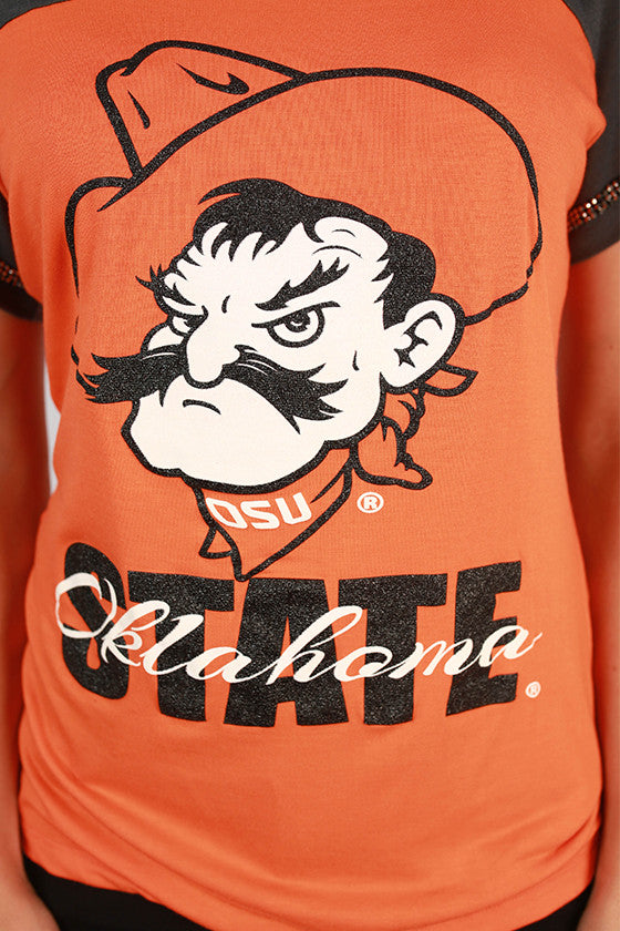 Oklahoma State University Football Burnout Tee