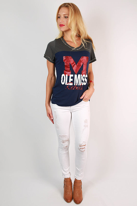 University of Mississippi Football Burnout Tee