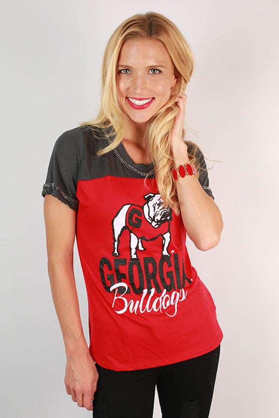 University of Georgia Football Burnout Tee