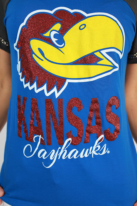 University of Kansas Football Burnout Tee