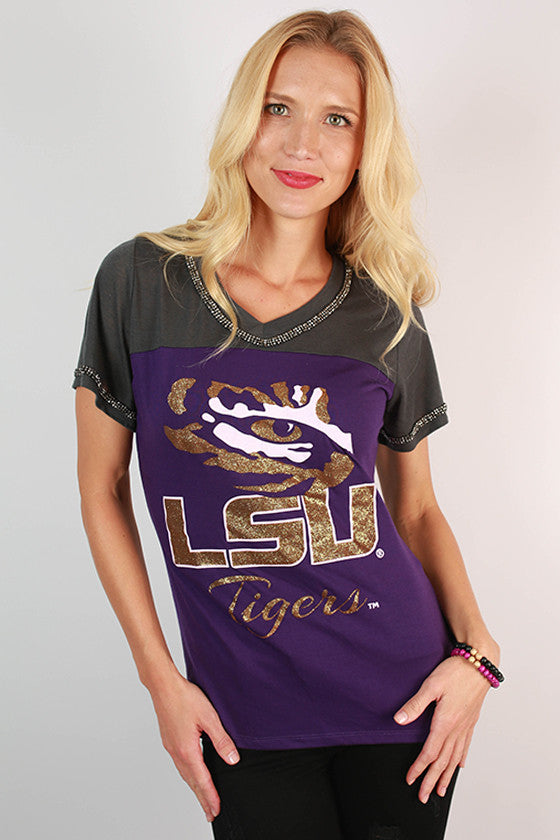 Louisiana State University Football Burnout Tee