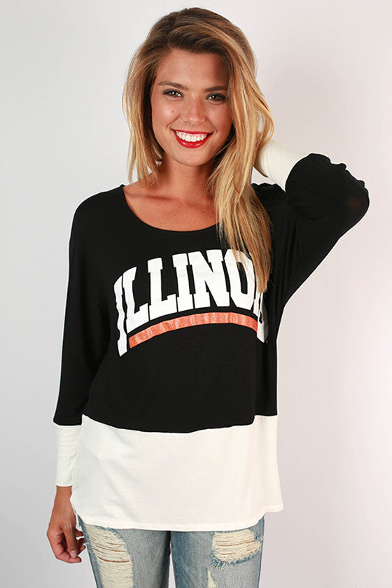 University of Illinois Color Block Tunic