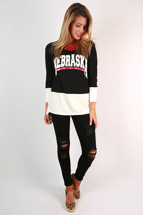 University of Nebraska Color Block Tunic