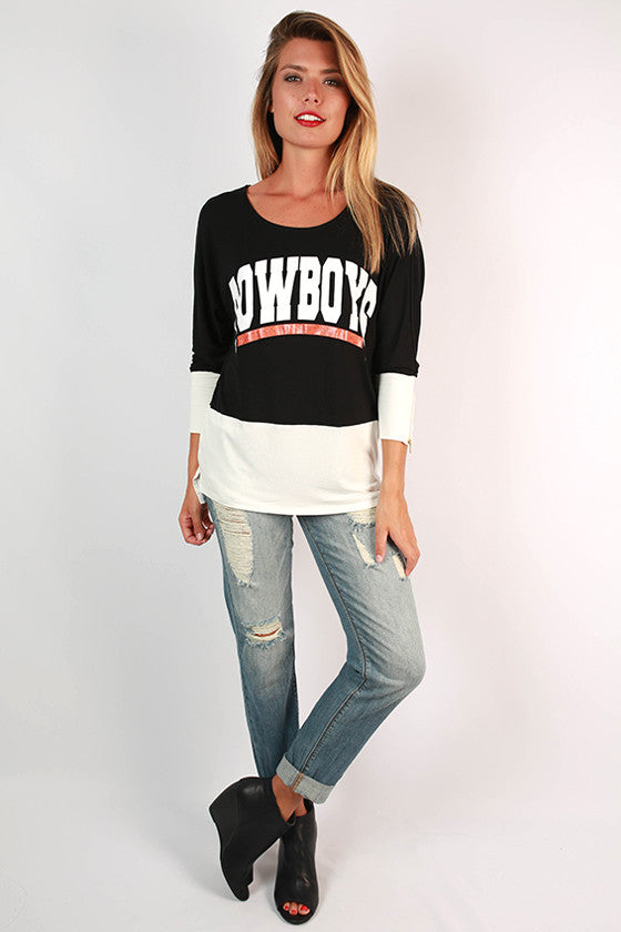 Oklahoma State University Color Block Tunic