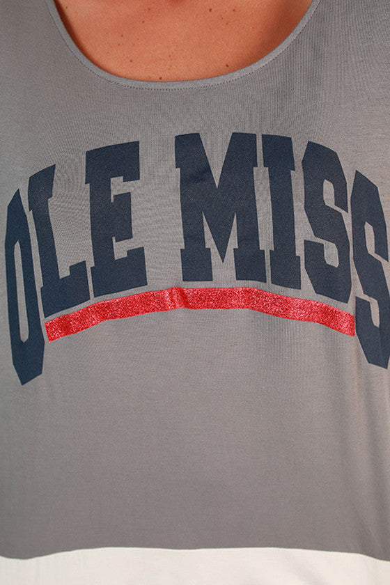University of Mississippi Color Block Tunic