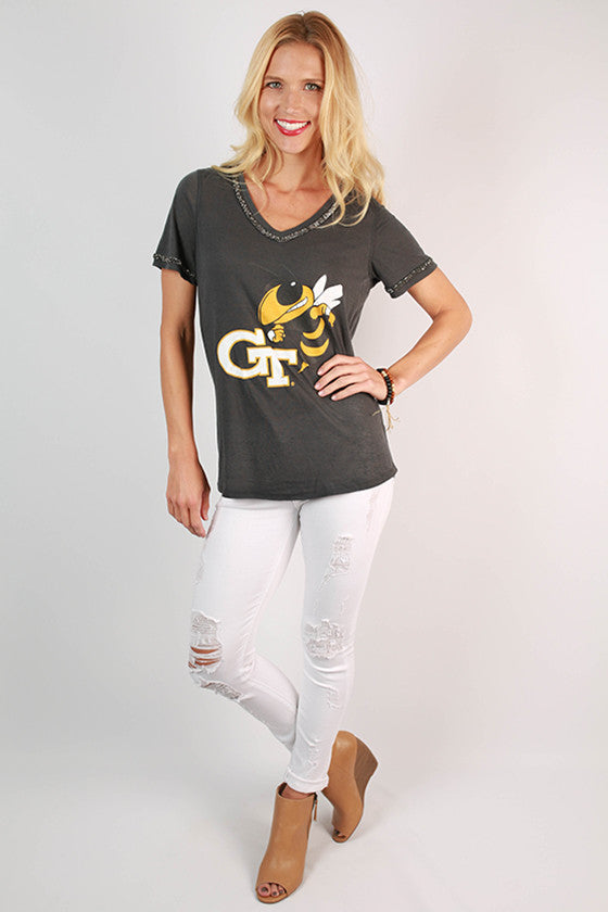 Georgia Tech University Boyfriend V-Tee