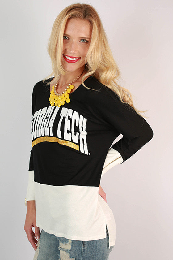 Georgia Tech University Color Block Tunic