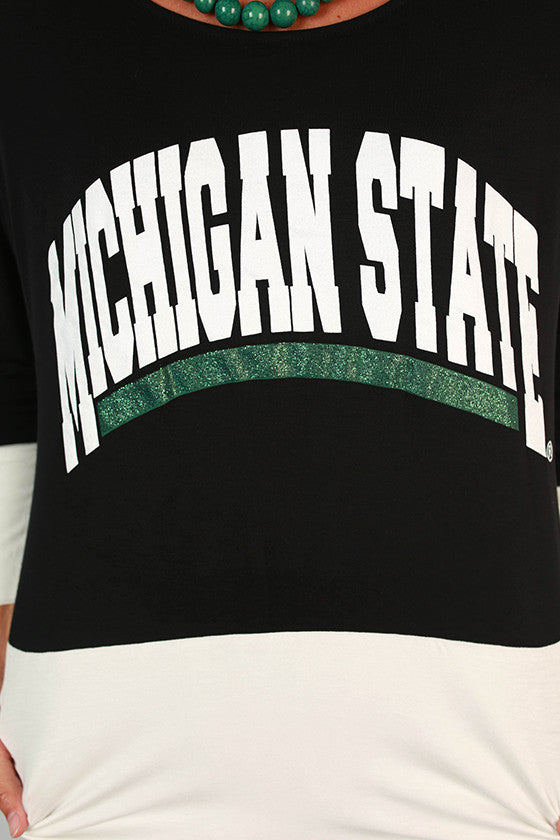 Michigan State University Color Block Tunic