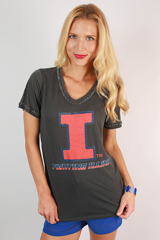 University Of Illinois Boyfriend V-Tee