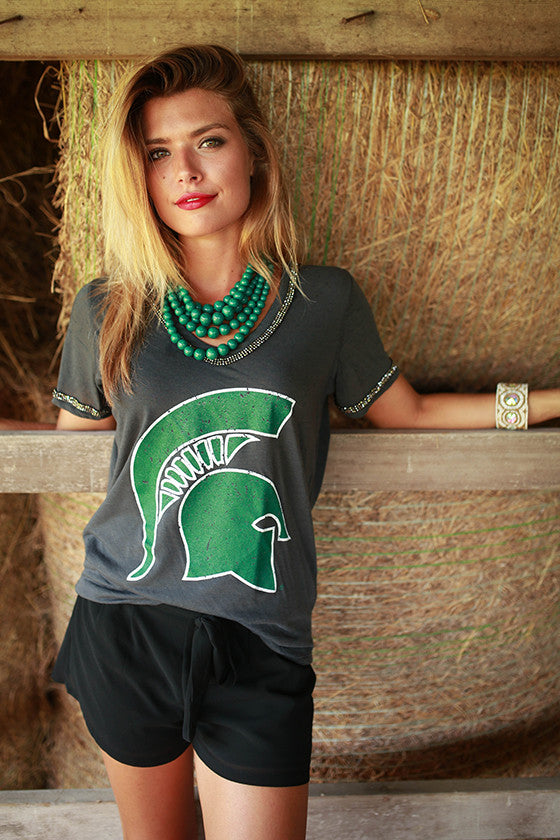 Michigan State University Boyfriend V-Tee
