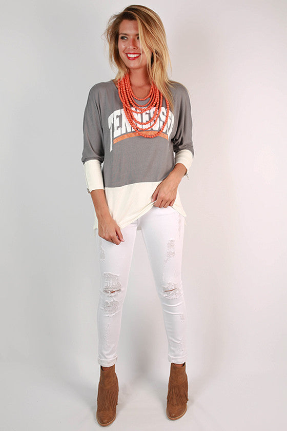 University of Tennessee Color Block Tunic