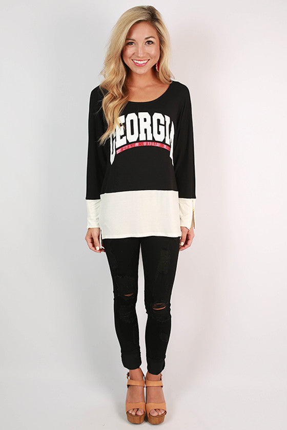 University of Georgia Color Block Tunic